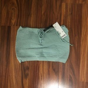 Urban Outfitters Lace Up Crop Top NWT